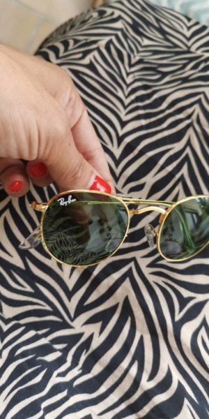 Ray Ban Sonnenbrille Round Metal Gold 3447