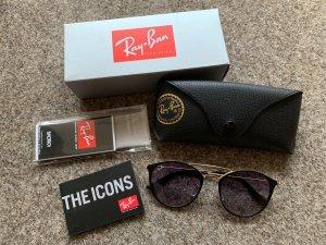 Ray Ban Gafas Retro negro-color oro vidrio