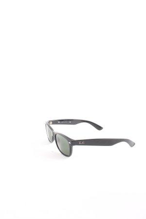 Ray Ban Sonnenbrille schwarz-dunkelgrün klassischer Stil