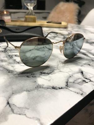 Ray Ban Ronde zonnebril azuur-zandig bruin