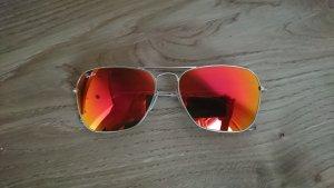 Ray-Ban Sonnenbrille verspiegelt rot Orange RB 3136