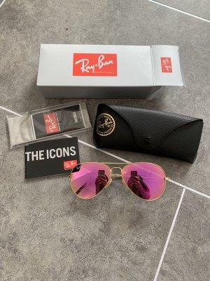 Ray Ban Pilotenbril goud-roze Glas