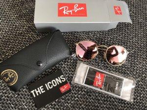 Ray Ban Spiegelbrille Round Rose