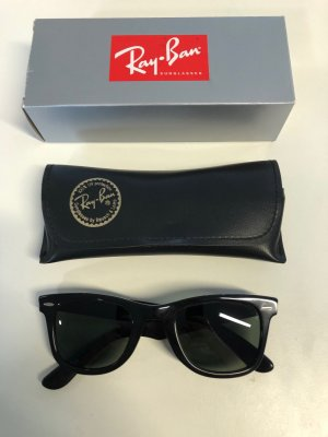 Ray Ban Wayfarer Sonnenbrille schwarz Vintage Bausch & Lomb