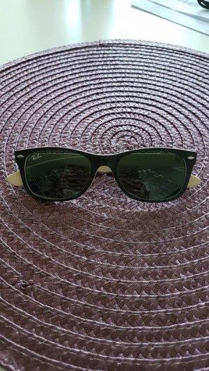 Ray Ban Hoekige zonnebril zwart-beige kunststof