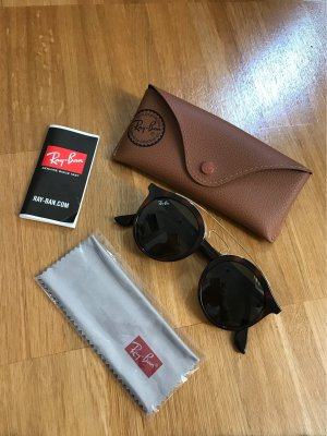 Ray Ban Ronde zonnebril donkerbruin-goud