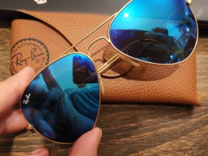 Ray Ban Ovale zonnebril blauw