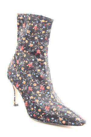 Raye Zipper Booties flower pattern vintage style