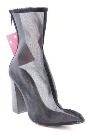 Raye Reißverschluss-Stiefeletten schwarz extravaganter Stil