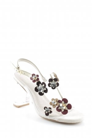 Raye Strapped High-Heeled Sandals flower pattern romantic style