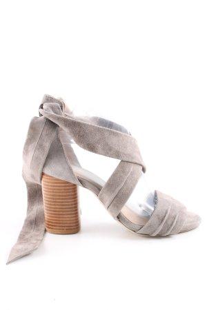 Raye Sandales à talons hauts et lanière gris clair style décontracté