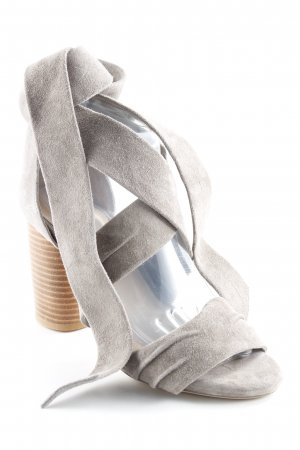 Raye Sandalias de tacón de tiras gris oscuro look casual