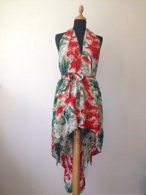 Rayon Kleid Wickel Schleife Neckholder Rückenausschnitt Asia Print exotisch Glamour Sommer