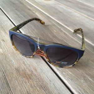 Gafas de piloto azul oscuro-marrón