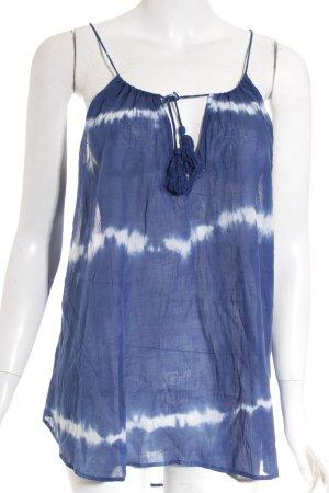 RE:DENIM Tunique bleu-blanc motif batik style bohème