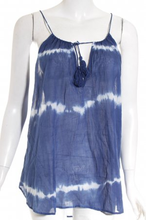 RE:DENIM Camicia a tunica blu-bianco motivo batik stile Gypsy