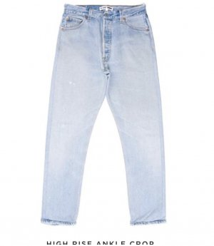 Re/Done High Rise Ankle Crop W25
