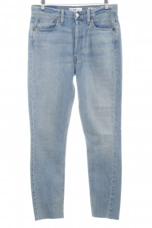 RE / DONE Slim Jeans kornblumenblau Washed-Optik
