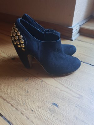 Real suede heels