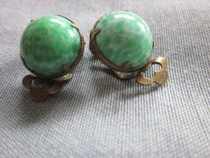 Real Vintage Ohrclipse grün