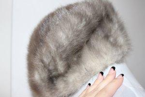Real Vintage Pelzmütze Grau #Pelz #Fell