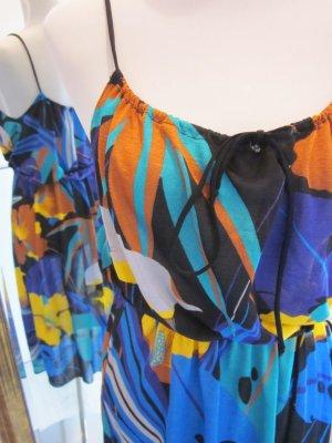 Real Vintage Strandkleid Überkleid Retro Bunt Gr M #Karneval #Fasching