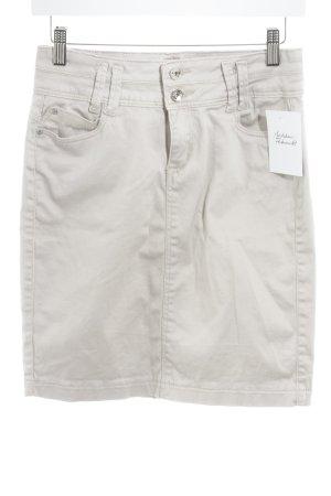 Reals Minifalda crema look casual