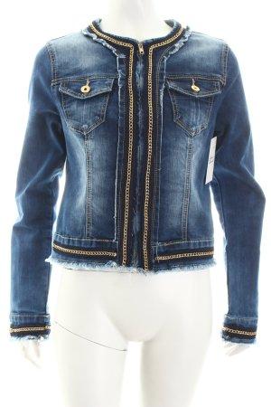 Realty Jeansjacke dunkelblau extravaganter Stil