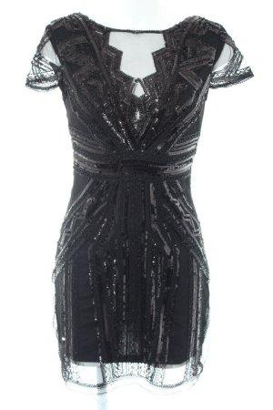 Realty Abito con paillettes nero elegante