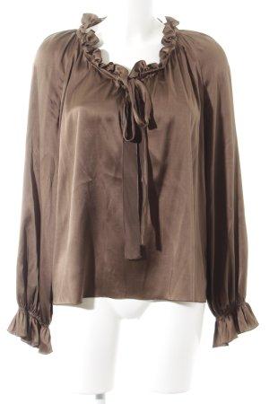 Rebecca Brown Langarm-Bluse braun Elegant
