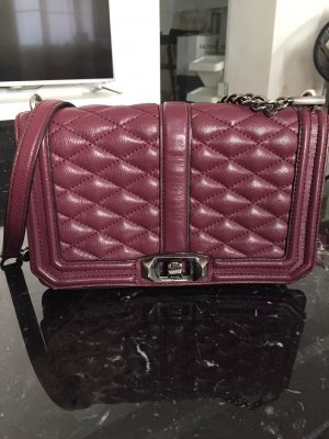"Rebecca Minkoff ""Chevron Quilted Love Cross Body Bag"""
