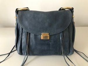 Rebecca Minkoff Crossbody Tasche mit Golddetails, blau