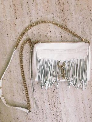 Rebecca Minkoff fransentasche shoulderbag weiß Leder