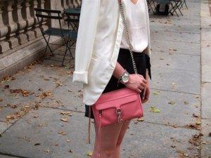 Rebecca Minkoff MAC Umhägetasche Pink Silber