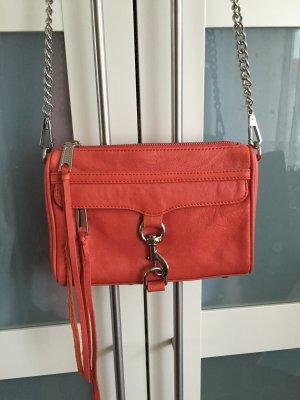 Rebecca Minkoff Mini Mac Tasche Bag Clutch Coral Silber Koralle Silver
