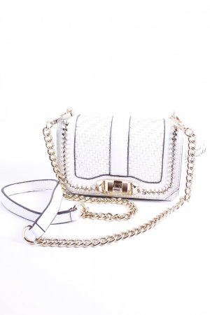 "Rebecca Minkoff Minitasche ""Mini Love Crossbody Quilted Chain White "" weiß"