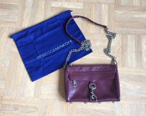 Rebecca minkoff Tasche Aubergine weinrot Blogger Original