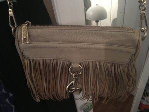 Rebecca Minkoff Tasche Mini Mac in beige mit Fransen