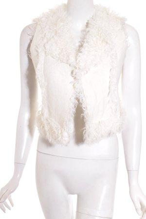 Rebecca taylor Smanicato di pelliccia crema stile stravagante
