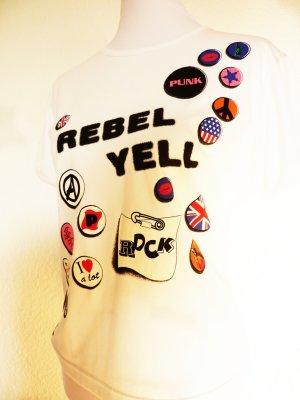Rebel Yell Tshirt Printshirt weiss 40