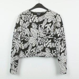 Reclaimed Vintage Crop-Shirt Gr. 38 schwarz/weiß gemustert floral (19/02/229)