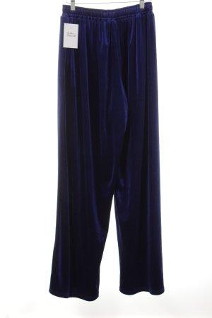 Reclaimed Vintage Culottes dunkelblau Glanz-Optik