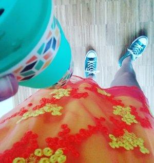 Reclaimed Vintage Kleid Twinset Set Shirt Shirtkleid Spitze Lace