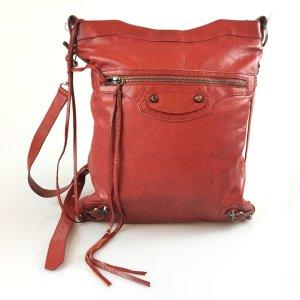 Red Balenciaga Cross Body Bag