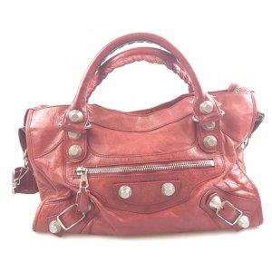 Red Balenciaga Shoulder Bag