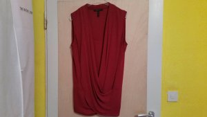 RED BCBG MAX AZRIA DRAPE TOP