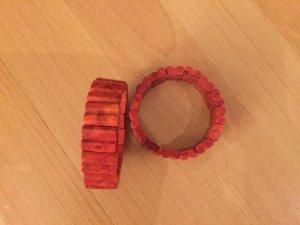 "Red boho ""stone"" bracelet"