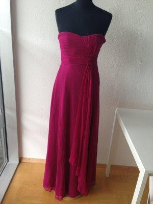 Vestido bustier púrpura-magenta Seda