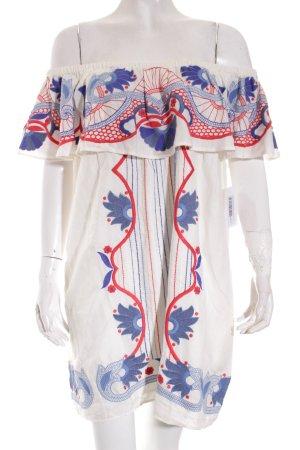 Red Carter One-Shoulder-Kleid florales Muster Street-Fashion-Look