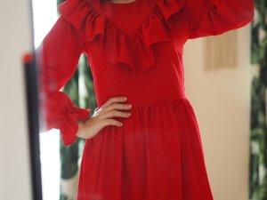 H&M Premium Robe longue rouge